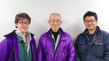 株式会社流通サービス 騎西物流センター、左から矢澤所長代理、根本所長、佐藤係長