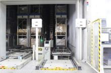 東大阪営業所1階自動倉庫の搬出入口正面